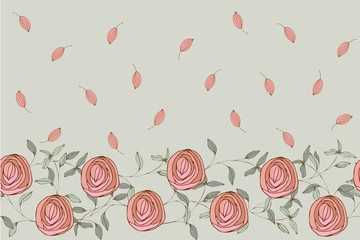 Seamless simple pattern with cute flowers. Floral ornament for textiles, Wallpaper, packaging.