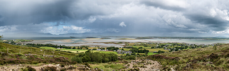 The archipelago near Westport from the road to Croagh Patrick, Ireland