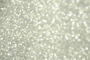 silver vintage glitter bokeh light background for Christmas and New Year festival decor