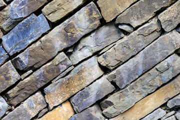 Rock wall brickwork brown texture background