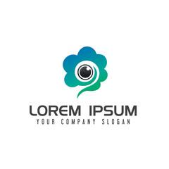 the cameras cloud logo design concept template