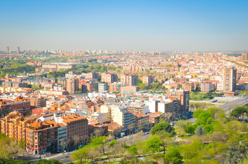 Aerial view of Madrid