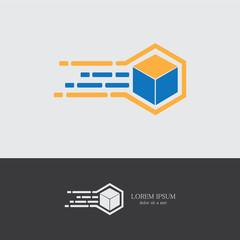 fast box symbol logo