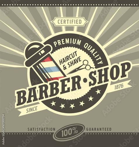 Barber shop hipster vintage sign template barbershop retro poster barber shop hipster vintage sign template barbershop retro poster or banner design maxwellsz