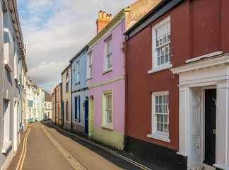 Colorful painted houses in Appledore, Devon