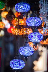 Turkish lamps in Istanbul