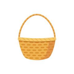 Basket icon, vector flat illustration.