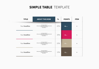 Infographic Table Layout 1