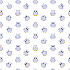Owls cute pattern.