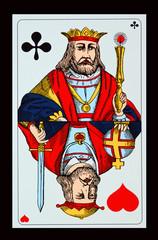 SPIELKARTEN-COLLAGEN - Kampf der Giganten-Kreuz König und Herz König