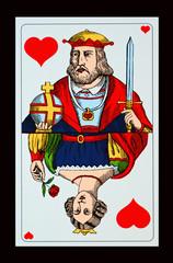 SPIELKARTEN-COLLAGEN - Herz König mit seiner Dame