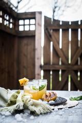 Smoky Pineapple Lemonade with Basil