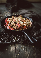Grilled Berry Crisp with Strawberries