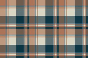 Check classic dark plaid fabric texture seamless pattern
