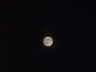 Photo image of a full moon on a clear night.