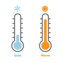 Thermometer, Cool and Warm-Vector Illustration