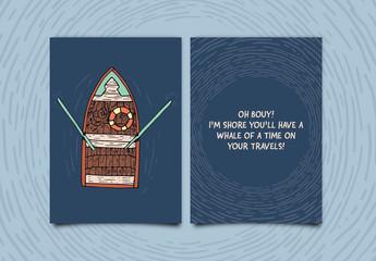 Rowboat Greeting Card Layout 1