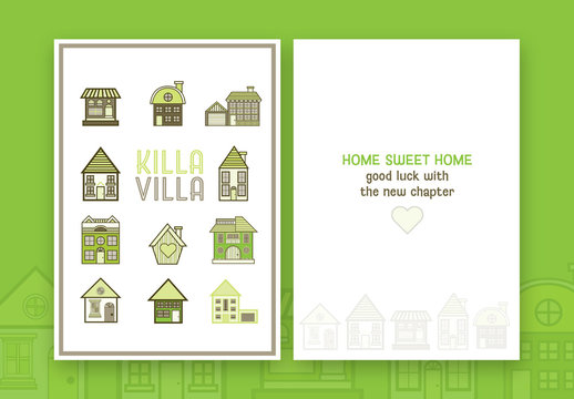 New House Greeting Card Layout 1