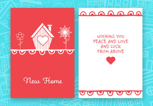 New House Greeting Card Layout 2