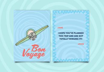 Airplane Greeting Card Layout 1