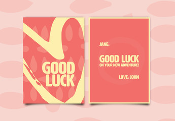 Good Luck Greeting Card Layout 1