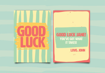 Good Luck Greeting Card Layout 2