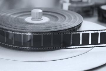 Schwarz-weiß retro Filmspule
