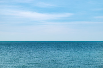 A simple seascape, the blue sea and the clear sky in Langkawi Island, Malaysia. Abstract natural background Wall mural