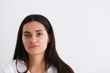 Norman indian worker woman portrait brunette
