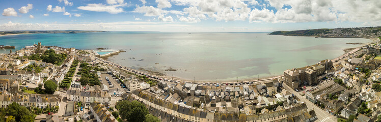 Aerial panorama of Penzance