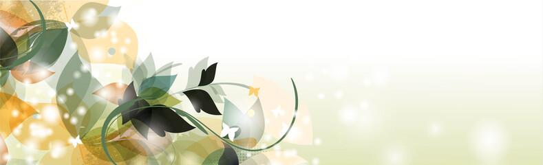 Floral seasons background banner