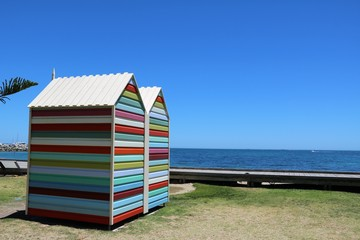 Beach huts at Indian Ocean, Western Australia