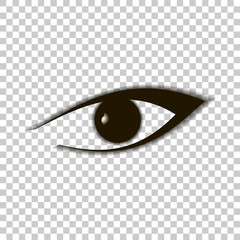 Vector Eye icon with shadow