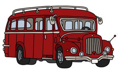 Vintage dark red bus
