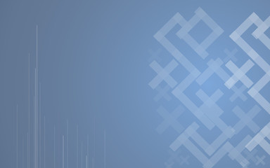 Abstract mosaic hi-tech blue background. Vector