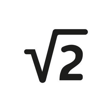 Square root symbol simple icon