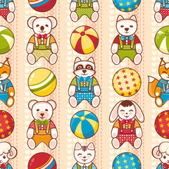 Child toy seamless pattern. Design element for postcard, banner, flyer