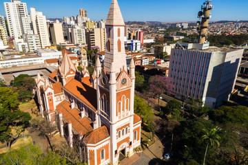 Aerial View of Ribeirao Preto city in Sao Paulo, Brazil