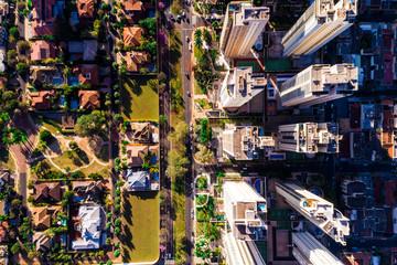 Top View of Ribeirao Preto city in Sao Paulo, Brazil by Drone