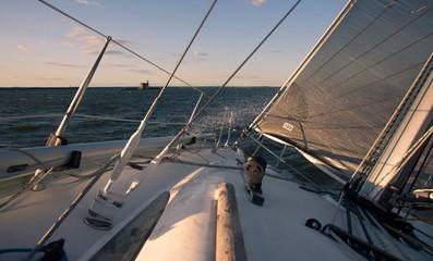 Sailing high wind