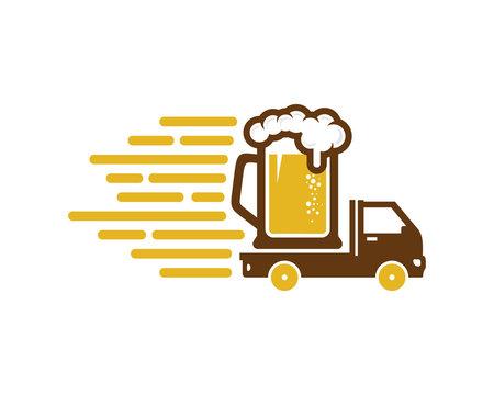Delivery Beer Icon Logo Design Element