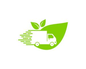 Nature Delivery Icon Logo Design Element