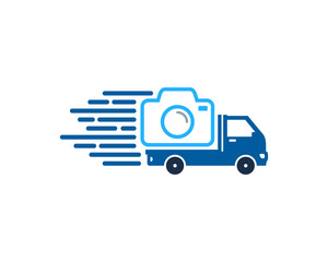 Camera Delivery Icon Logo Design Element