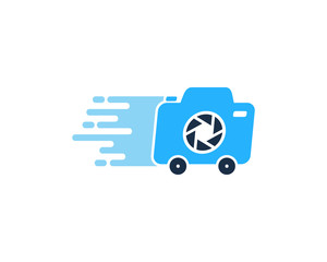 Delivery Camera Icon Logo Design Element