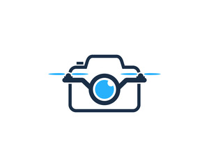 Drone Camera Icon Logo Design Element