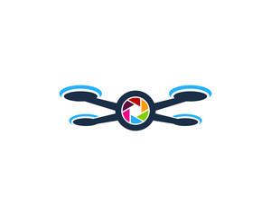 Photo Drone Icon Logo Design Element
