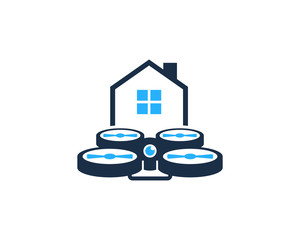 House Drone Icon Logo Design Element