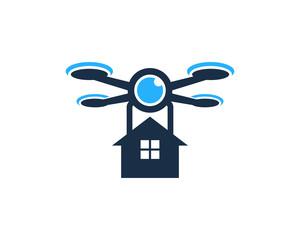 Home Drone Icon Logo Design Element