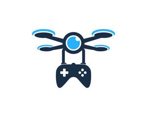 Game Drone Icon Logo Design Element