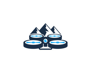 Mountain Drone Icon Logo Design Element